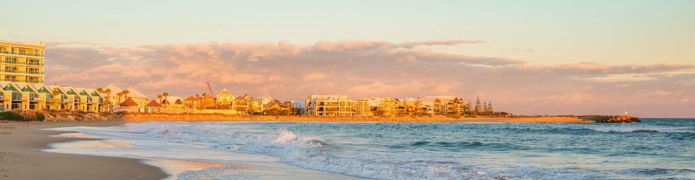 Photo of Mandurah from the beach